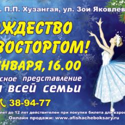 Новогоднее шоу «Рождество с Восторгом» в ДК Хузангая