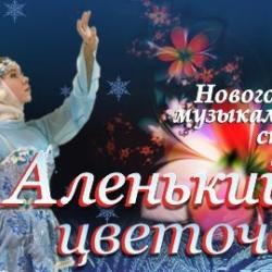 Спектакль «Аленький цветочек и анимация вокруг елки в ДК имени П.П. Хузангая