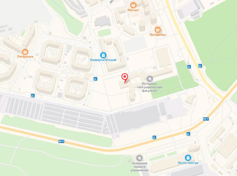 Контакты ДК ЧГУ - схема проезда